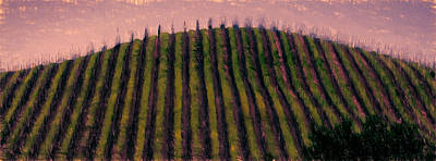 Sonoma County Mixed Media - Violet Morning by John K Woodruff