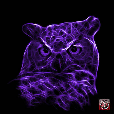 Digital Art - Violet Owl 4436 - F M by James Ahn