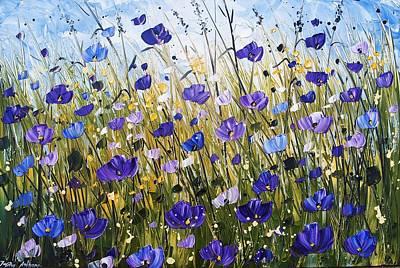 Violet Poppifield Art Print by Jolina Anthony