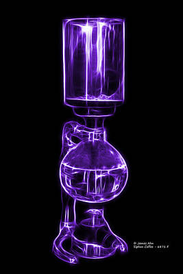 Digital Art - Violet Siphon Coffee 6781 F by James Ahn