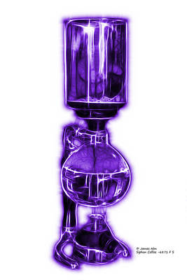 Digital Art - Violet Siphon Coffee 6781 F S by James Ahn