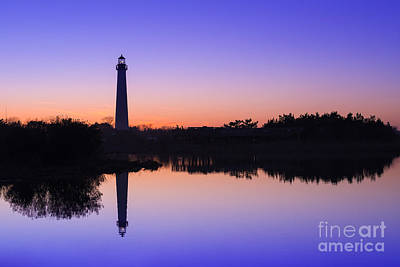 Violet Sunset Reflections Original