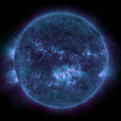 Sunny Day Photograph - Violet Teal Sun by Sunny Day