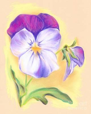 Pastel - Violet Violas by MM Anderson