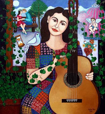 New Song Painting - Violeta Parra Back At Seventeen   by Madalena Lobao-Tello