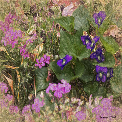 Painting - Violets And Thrift by Bellesouth Studio