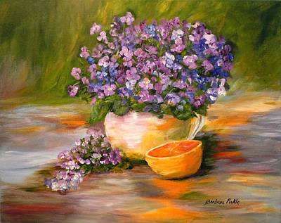 Violets Are Blue Print by Barbara Pirkle