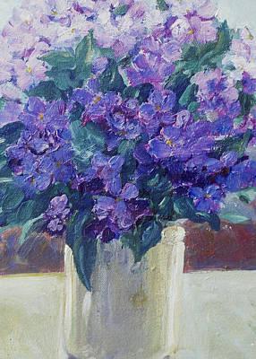 Violets Art Print by Betty McGlamery