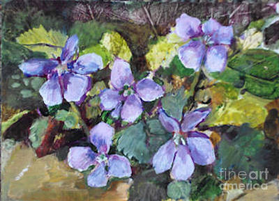 Painting - Violets by Diane Ursin