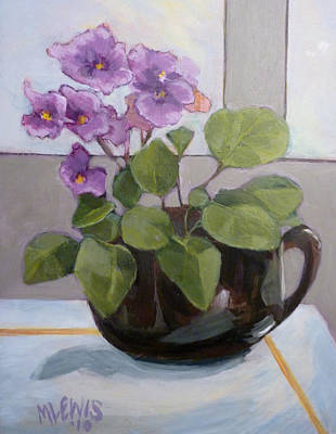 Flower Still Life Mixed Media - Violets by Melanie Lewis