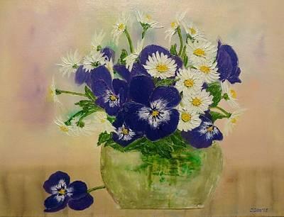 Violets Art Print by Svetla Dimitrova