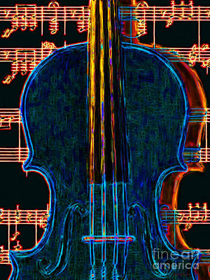 Violin - 20130128 Art Print by Wingsdomain Art and Photography