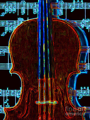 Violin - 20130128v1 Print by Wingsdomain Art and Photography