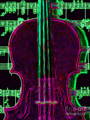 Violin - 20130128v2 Art Print by Wingsdomain Art and Photography