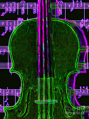 Violin - 20130128v4 Art Print by Wingsdomain Art and Photography
