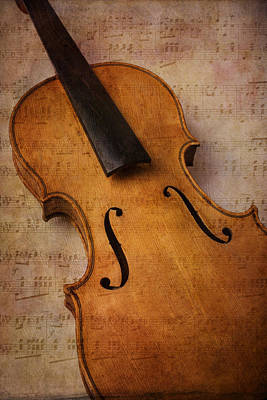 Violin Abstract Art Print by Garry Gay