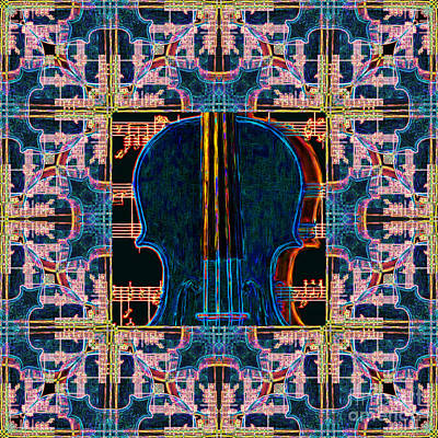 Violin Abstract Window - 20130128v1 Art Print by Wingsdomain Art and Photography