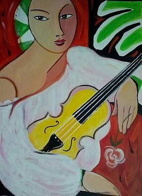 Painting - Violin At Rest by Marlene LAbbe