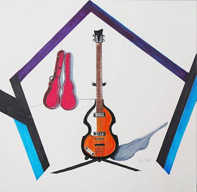 Violin Bass Art Print by Kenneth A Mc Williams