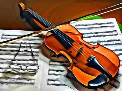 Photograph - Violin by Carlos Diaz
