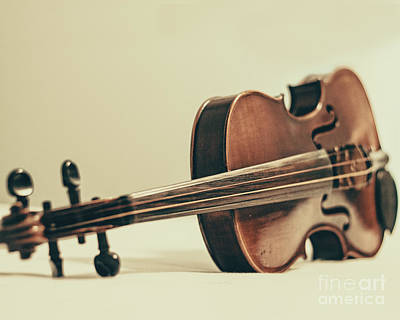Violins Photograph - Violin by Emily Kay