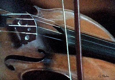 Painting - Violin by George Pedro