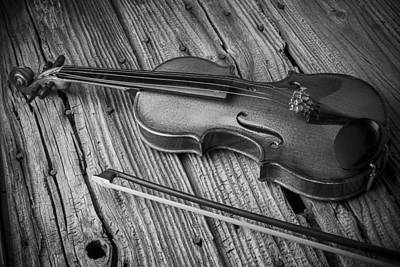 Beats Photograph - Violin In Black And White by Garry Gay