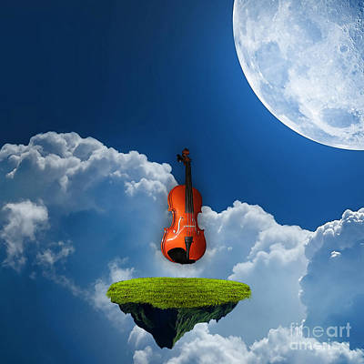 Violins Mixed Media - Violin In Heaven by Marvin Blaine