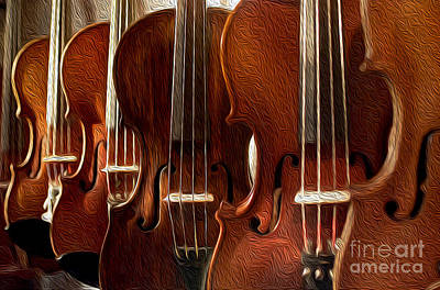 Fiddle Photograph - Violin Painting by Jon Neidert