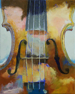 Classical Realism Painting - Violin Painting by Michael Creese