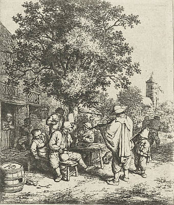 Violin Player Drawing - Violin Player And A Young Winch Turner, Adriaen Van Ostade by Adriaen Van Ostade
