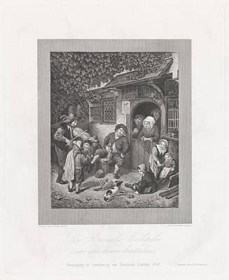 Violin Player Drawing - Violin Player For An Inn, Abraham Lion Zeelander by Artokoloro
