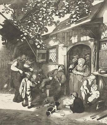 Violin Player Drawing - Violin Player For An Inn, Cornelis Ploos Van Amstel by Quint Lox