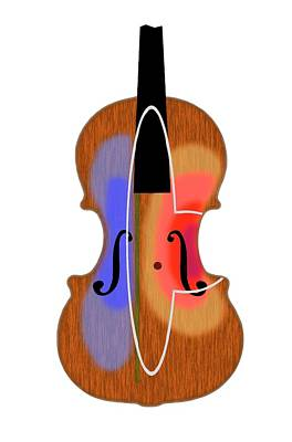 Violin Vibration Zones Art Print by Patrick Landmann