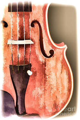 Painting - Violin Viola Body Painting In A Photograph 3266.02 by M K Miller