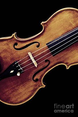 Photograph - Violin Viola Photograph Strings Bridge In Color 3264.02 by M K Miller