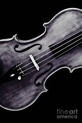 Photograph - Violin Viola Photograph Strings Bridge In Sepia 3264.01 by M K Miller