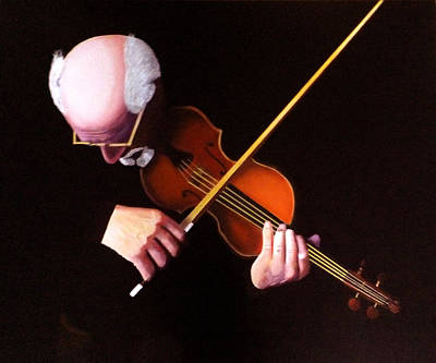 Painting - Violin Virtuoso-grandfather Inspired by JoeRay Kelley