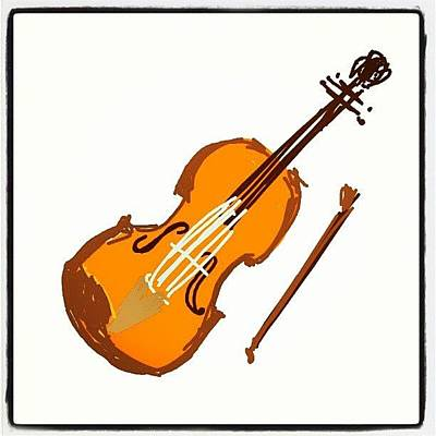 Violin Wall Art - Photograph - #violinds #cartoon #violin #sketch by Nuno Marques