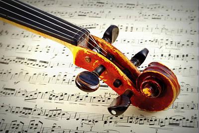 Violine Art Print by Chevy Fleet