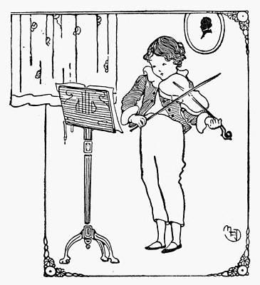 Violin Player Drawing - Violinist, 1926 by Granger