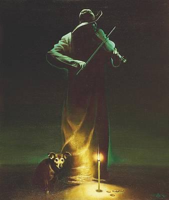 Violinist Art Print by Andrej Vystropov