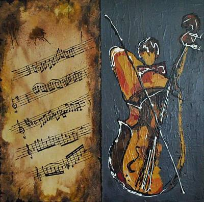Violinist Art Print by Olga Beaton