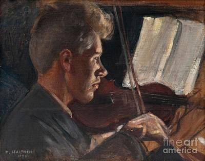 Pekka Wall Art - Painting - Violinist by Celestial Images