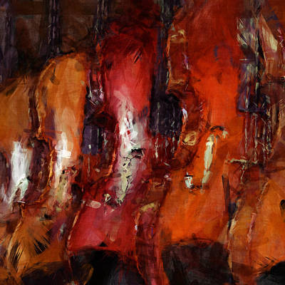 Violin Digital Art - Violins Abstract by David G Paul
