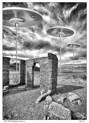 Vip Parking At Area 51 Art Print by Gary Warnimont