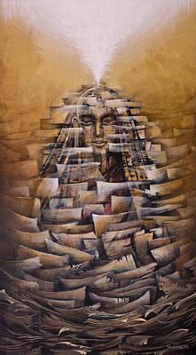 Concept Painting - Vipassana. Destruction Of Concepts by Vrindavan Das