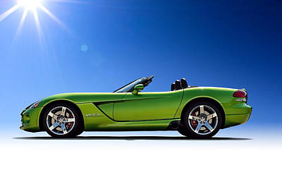 Green Digital Art - Viper Roadster by Douglas Pittman