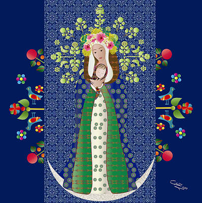 Virgen Chinita Art Print