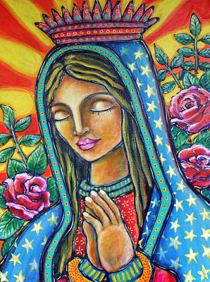 Virgen Mary Painting - Virgen De Guadalupe by Shelley Bredeson